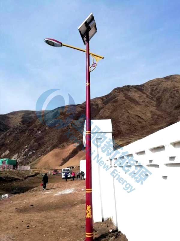 甘肃民族特色太阳能路灯