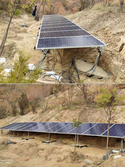 甘肃太阳能喷泉水泵供电系统