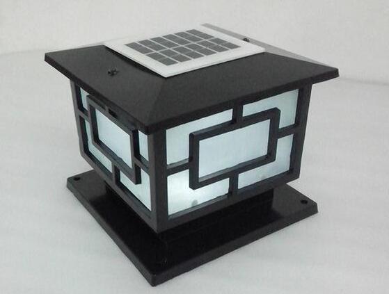 室外太阳能柱头灯