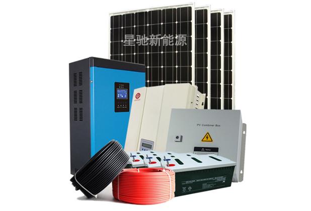 太阳能发电离网系统配置和搭配