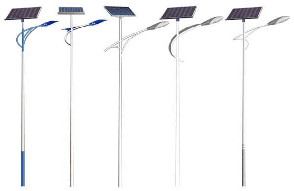 自弯臂太阳能路灯