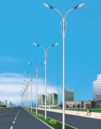城市双臂太阳能路灯