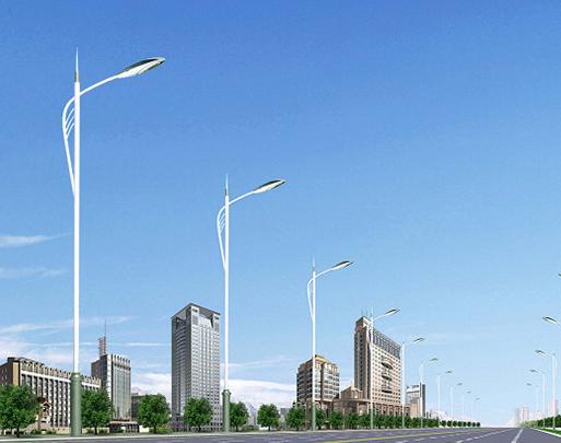 城市7米单臂道路灯